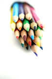 Coloring pencils on white Stock Images
