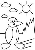 Coloring penguin Stock Photo