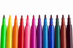 Coloring Pens Royalty Free Stock Image