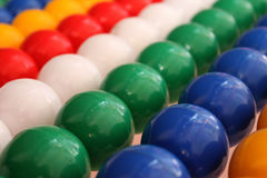 Coloring plastic ball Royalty Free Stock Photography