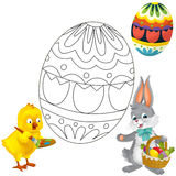 The coloring plate - easter Royalty Free Stock Photography