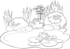 Coloring pond Royalty Free Stock Image
