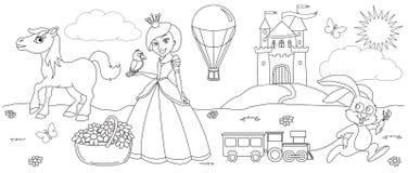 Coloring princess Royalty Free Stock Photos