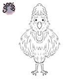The coloring of the rooster. Symbol 2017. Happy New Year. Rooster. Coloring for adults and children. Leisure and hobbies. Vector illustration Royalty Free Stock Photo