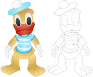 Coloring cartoon duck Royalty Free Stock Photography