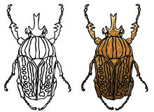 Coloring scarab beetle Royalty Free Stock Photography