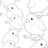Seamless pattern  is  chicken baby. vector illustration Royalty Free Stock Photography