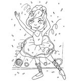 The coloring with a set of images of children in kindergarten Royalty Free Stock Image