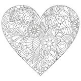 Coloring in the shape of a heart. Vector coloring on a white background in the shape of a heart stock illustration