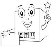 Coloring Shipment Cardboard Box Stock Image