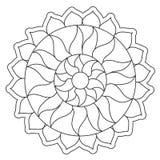 Coloring Simple Sun Mandala Stock Photo
