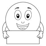 Coloring Smiley Emoticon with Blank Sign Royalty Free Stock Photo