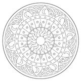 Coloring Space Round Ornament Stock Image