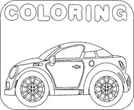 Coloring Sport Car Cartoon Royalty Free Stock Images
