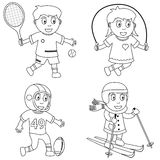 Coloring Sport For Kids [3] Royalty Free Stock Photos