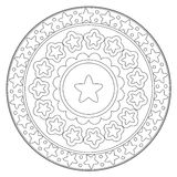Coloring Star Round Ornament Stock Photo