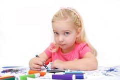 Coloring Table Royalty Free Stock Images