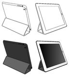 Coloring Tablet PC isolated Stock Image