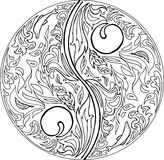 Coloring TAO mandala vector Stock Photos