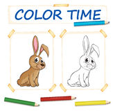 Coloring template with bunny Stock Image