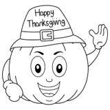 Coloring Thanksgiving Pumpkin Character Stock Photos
