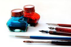 Coloring tools Royalty Free Stock Images