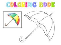 Coloring umbrella on white. Background Stock Image