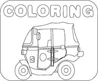 Coloring vehicle Cartoon Royalty Free Stock Images