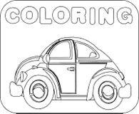Coloring vehicle Cartoon Stock Image