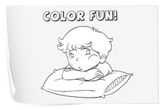 Coloring worksheet Royalty Free Stock Images
