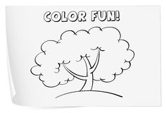 Coloring worksheet Stock Photo