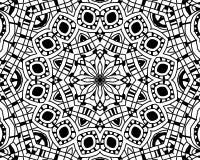 Coloring zentangle mandala Royalty Free Stock Images
