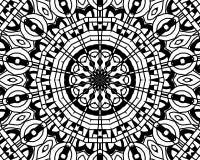 Coloring zentangle mandala Stock Photos