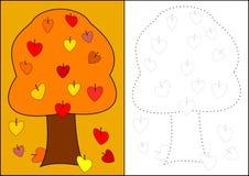 Colorir - árvore do outono ilustração do vetor