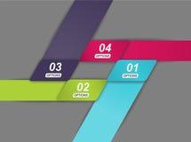 4 coloriram fitas em um projeto do infographics Fotografia de Stock