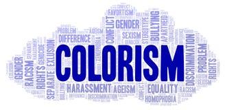 Colorism - typ dyskryminacja - słowo chmura royalty ilustracja