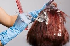 Colorist do cabelo Fotografia de Stock Royalty Free