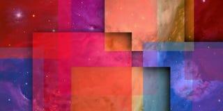 Colorist en geometrische samenstelling met schaduwen 1 stock illustratie