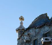 Coloristic roof and its cross royalty free stock photos