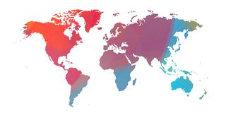 Coloristworldmap med mist över vit 16 vektor illustrationer