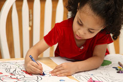 Coloritura del bambino fotografie stock