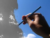Coloritura del cielo Immagini Stock Libere da Diritti