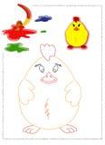 Coloritura del pulcino Fotografia Stock Libera da Diritti