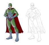 Coloritura del supereroe Fotografia Stock