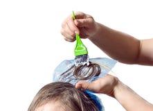 Coloritura di capelli Immagini Stock Libere da Diritti
