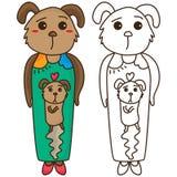 Coloritura di umore del cane illustrazione di stock
