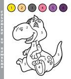 Coloritura divertente dal gioco di numeri Immagini Stock