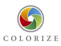 colorize logoen Arkivbild