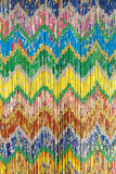 Colorized curtain. The background of colorized curtain stock photos