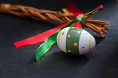 Easter eggs on stone background Royalty Free Stock Image